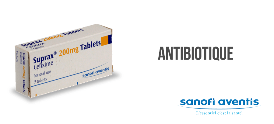 suprax antibiotique traitement infection sans ordonnance