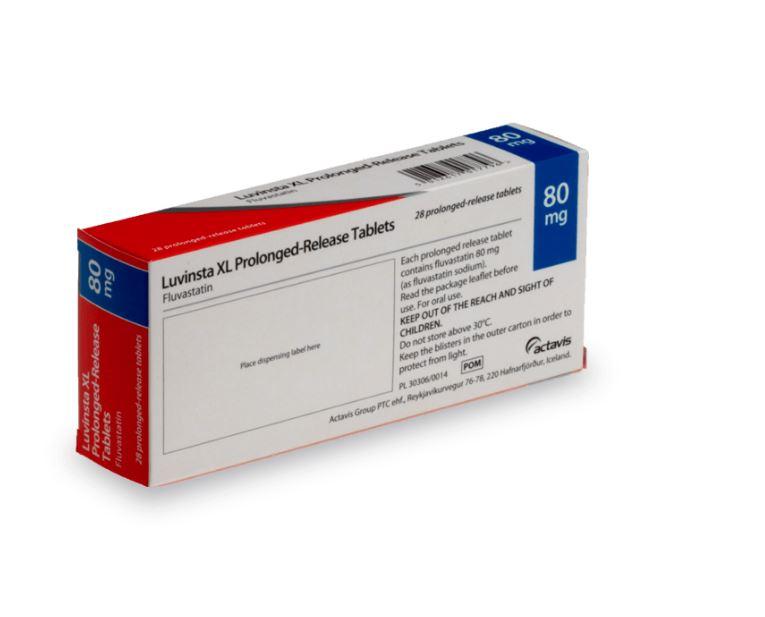 Fluvastatine contre l'excès de cholestérol