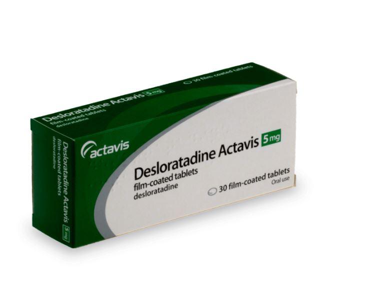 Desloratadine pour combattre l'allergie au pollen