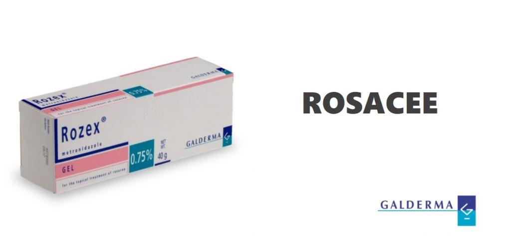 Médicament Rozex contre les symptômes de la rosacée